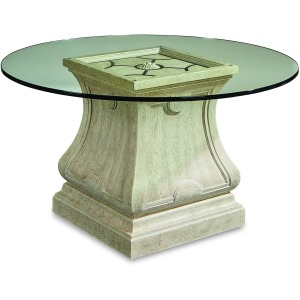 Leoni Round 54in Glass Dining Table