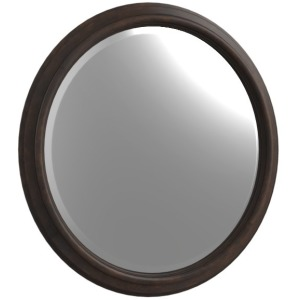 Round Mirror Dark Cherry