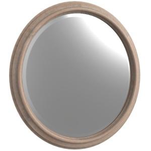 Bryan Round Mirror Weathered Oak