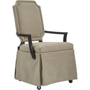 Skirted Arm Chair w/ Caster
