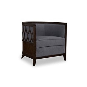 Barrel Back Chair with Fretwork