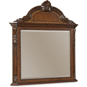 Crowned Landscape Mirror