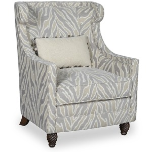 Amanda Accent Chair w/Kidney Pillow