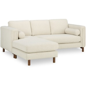 Larsen Bi-Sectional Sofa 84in & Ottoman