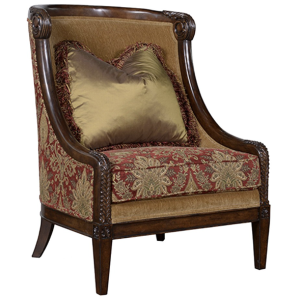 Carved Wood Accent Chair