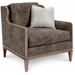Fontaine Graphite Scoop Back Chair
