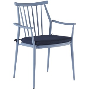 Epicenters Austin Outdoor Darrow Arm Dining Chair - Blue