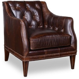 Kennedy Walnut  Matching Leather Chair To Settee