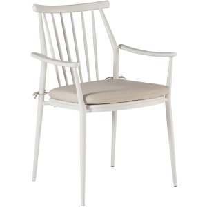 Epicenters Austin Outdoor Darrow Arm Dining Chair - White
