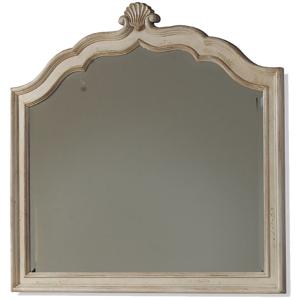 Crowned Landscape Mirror  Linen