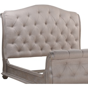 Shoals 6/6 Uph Tufted Sleigh Headboard