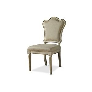 Upholstered Back Side Chair Linen