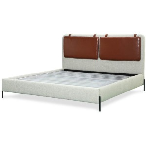 Kirkeby Queen Upholstered Bed - Grey