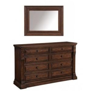 Whiskey Dresser and Mirror