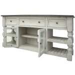 "70"" TV Stand w/ 3 Drawer & 2 Glass Doors"