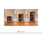 Bookcase, 12 different positions available for shelves (includes 2 removable shelves, 1 middle fixed