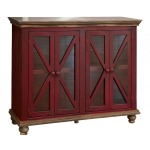 Florence 4 Door Console - Red Finish