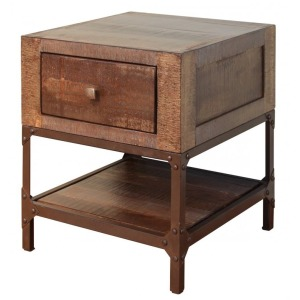 Urban Gold End Table w/ 1 Drawer