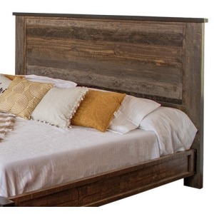 Antique Gray King Headboard