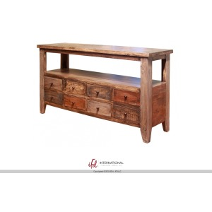 Sofa Table w/8 Drawers