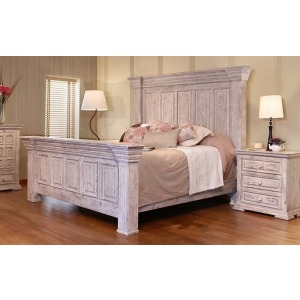 Terra White Queen Bed