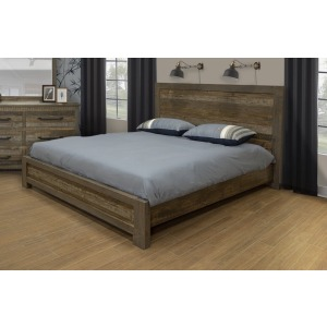 Loft Brown King Bed