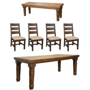 BOTERO TABLE / 4 CHAIRS / BENCH