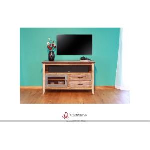 "ANTIQUE MULTICOLOR 52"" TV STAND"