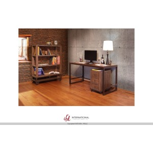 Desk w/Wood Top & Iron Base - KD System