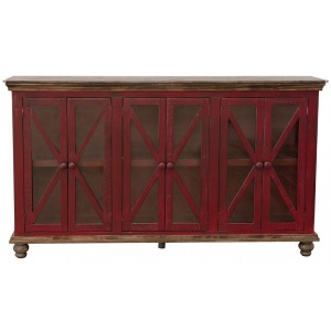 Florence 6 Door Console - Red Finish