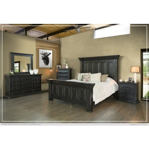 Terra Black King Headboard