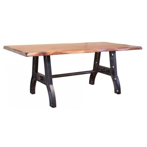 Parota Dining Table with Iron Base