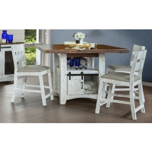 Pueblo Counter Height Table & 4 Barstools