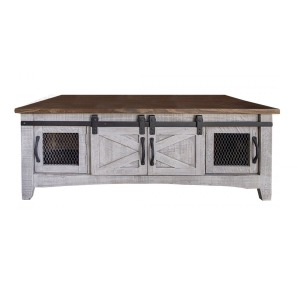 Pueblo Gray Cocktail Table 8 Doors