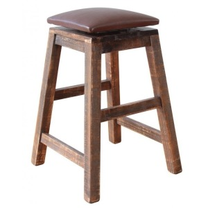 "Antique 30"" Swivel Barstool"
