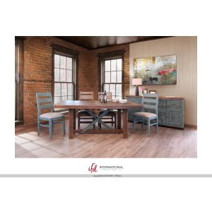 Antique Teal Dining Table