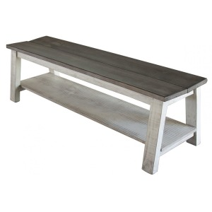 Breakfast Bench w/shelf