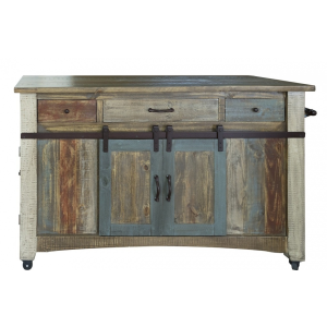 Antique Multicolor Kitchen Island