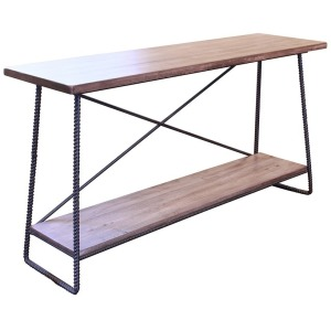 Sofa Table w/1 Wooden Shelf