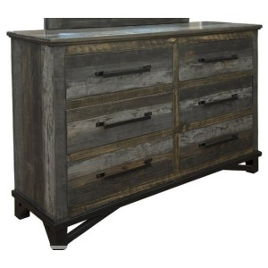 Loft Brown 6 Drawer Dresser