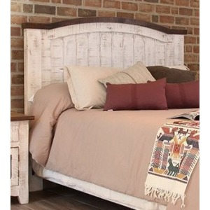 Pueblo White King Headboard