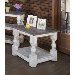 STONE CHAIRSIDE END TABLE