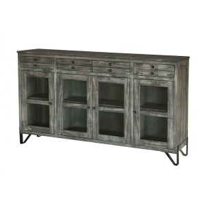 Moro 4 Drawer & 4 Glass Doors Console