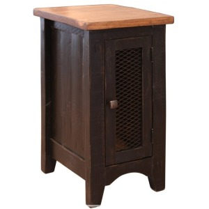 1 Mesh door Chairside Table