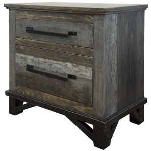 Loft Brown 2 Drawer Night Stand