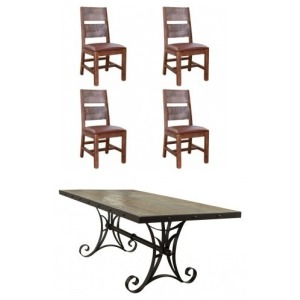 Antique Multicolor 5 PC Dining Set