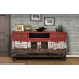 "Urbana 70"" TV Stand - Red Finish"