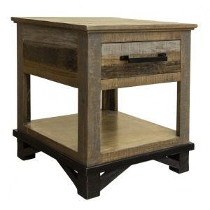 LOFT BROWN END TABLE