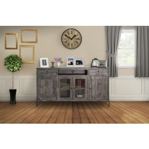 "Moro 70"" TV Stand w/2 Drawer, 2 Door & 2 Glass Door"