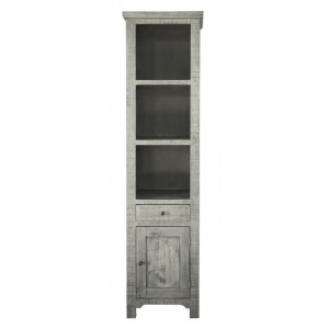 1 Drawer, 1 Door & 3 Shelves Bookcases, Stone finish